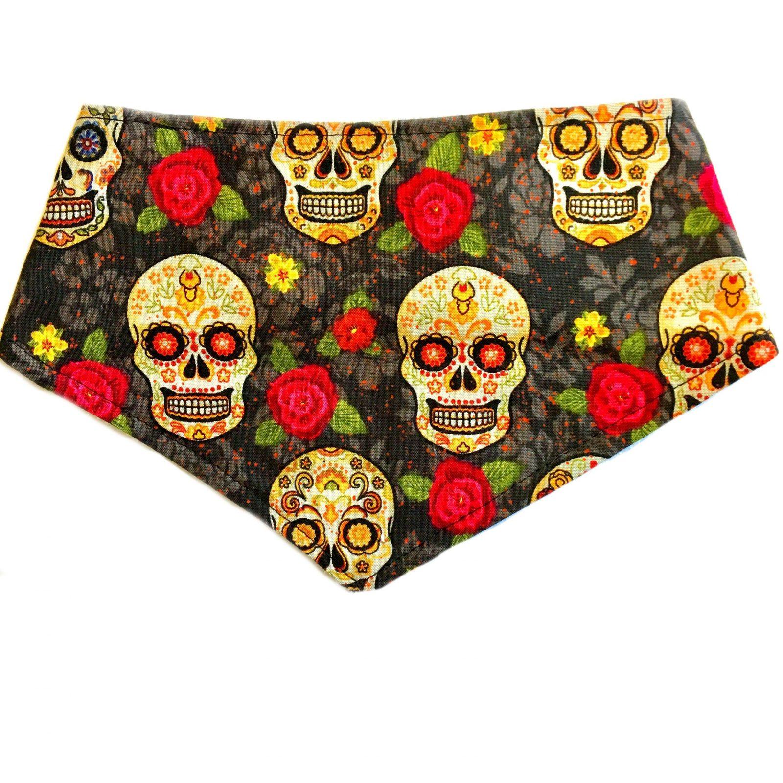 sugar skulls bandana bib