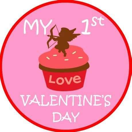 1st valentine Sticker
