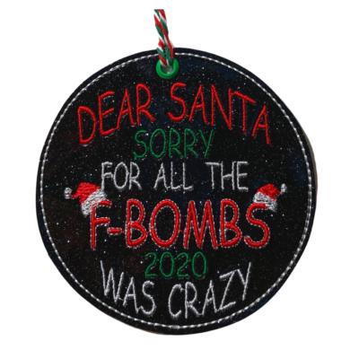 F Bomb Ornament