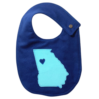 Blue Georgia Bib Small